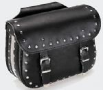 "Leather Saddle Bags ""Terminator"" With Rivets (1 Pair)"